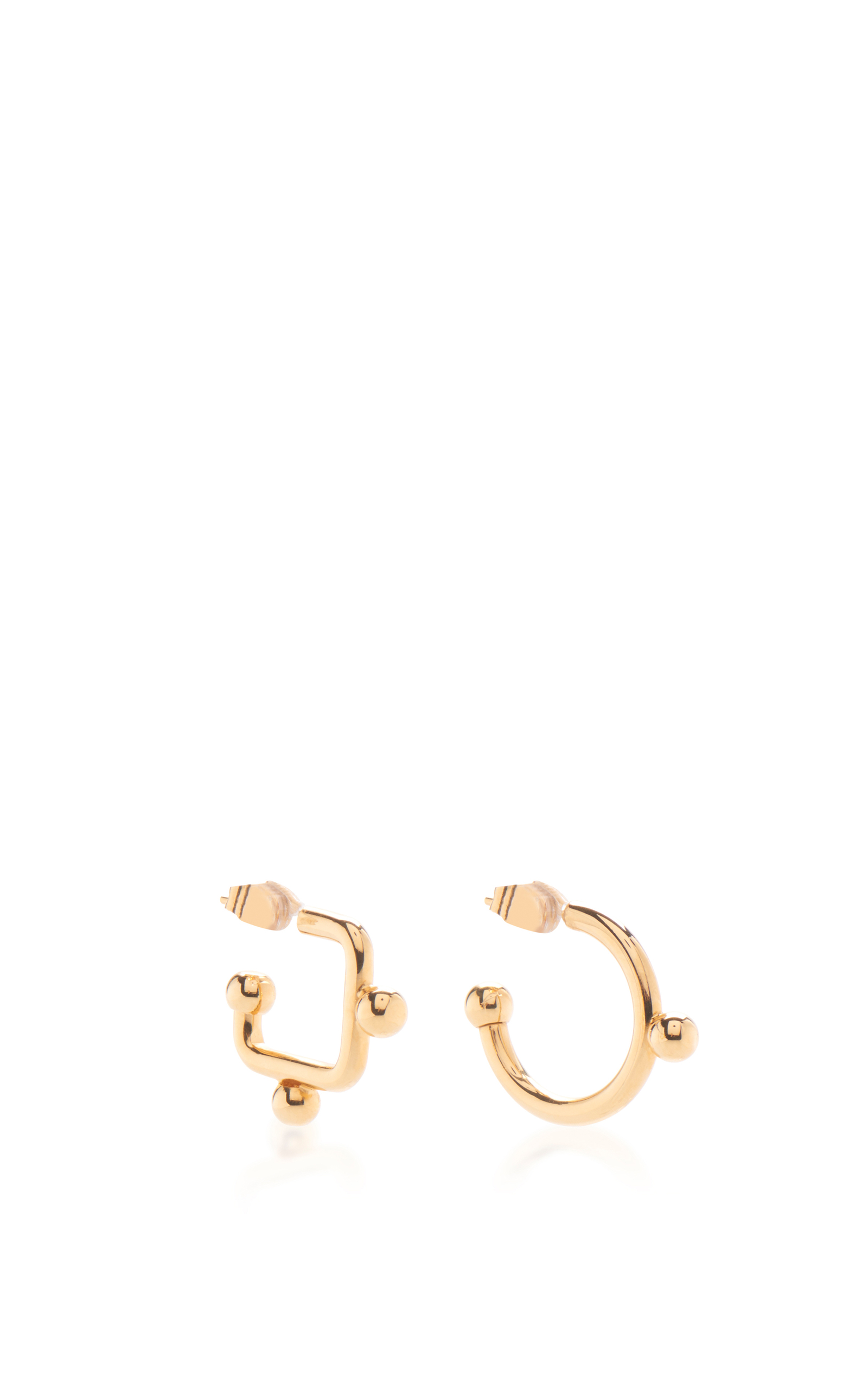 no normal mismatch betsey product gallery candy lyst heart color filled gold earrings in mismatched johnson jewelry metallic