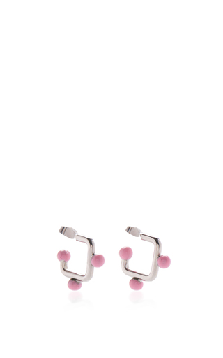 Medium marni silver square earrings with spheres