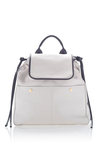 Medium marni white leather backpack
