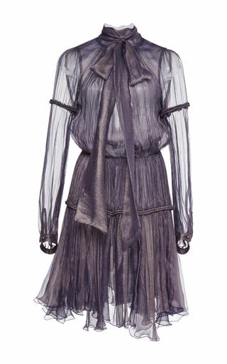 Medium maria lucia hohan blue davida bow collar dress