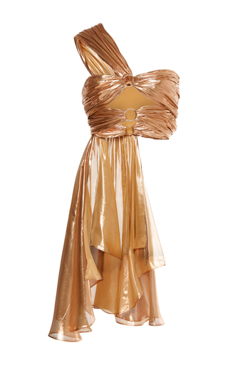 Medium maria lucia hohan gold brylee cropped one shoulder top