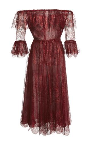 Medium maria lucia hohan burgundy melissa off the shoulder lace dress