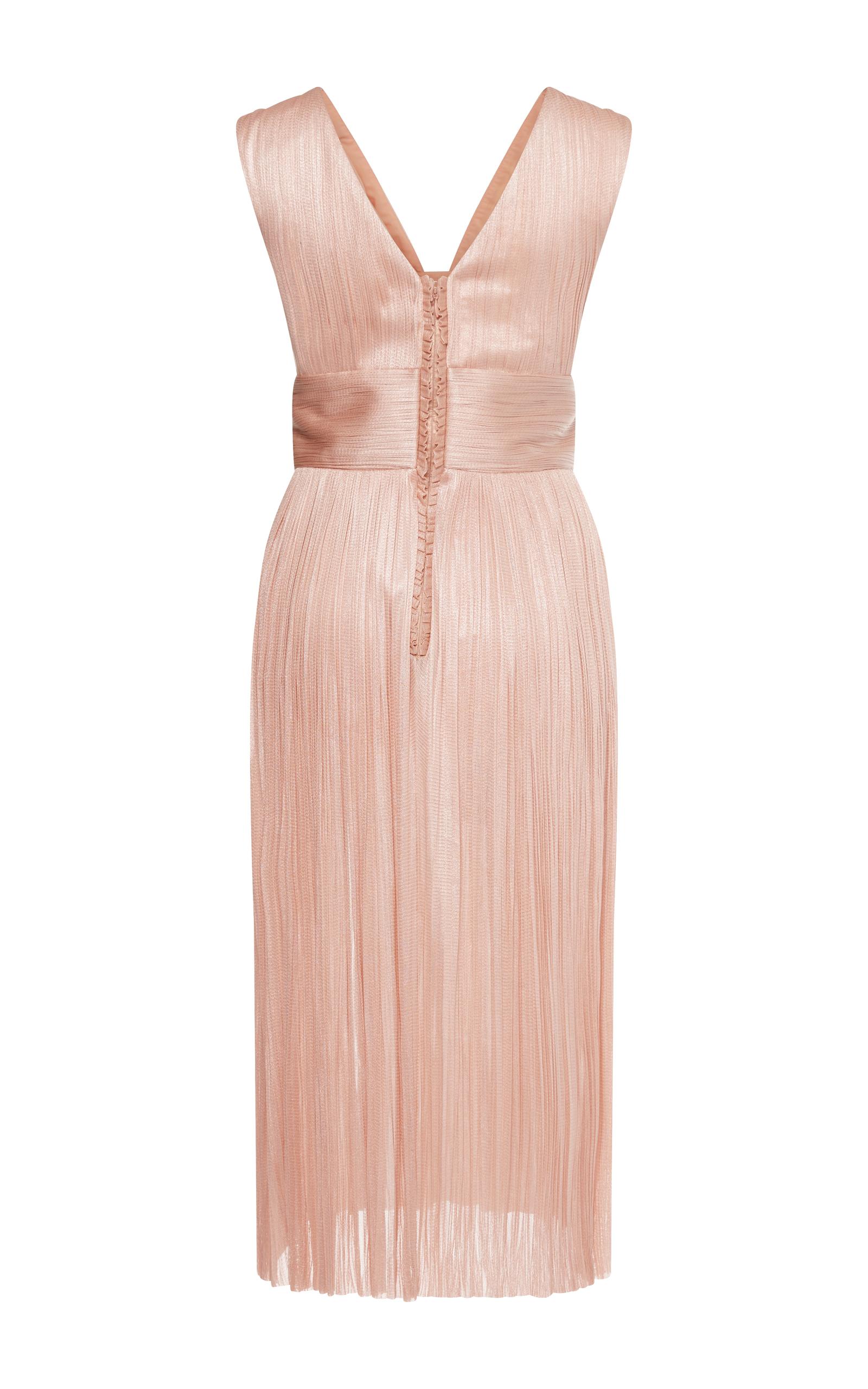 Temperley aurora satin lace dress