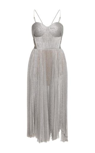 Medium maria lucia hohan silver zaria bustier midi dress