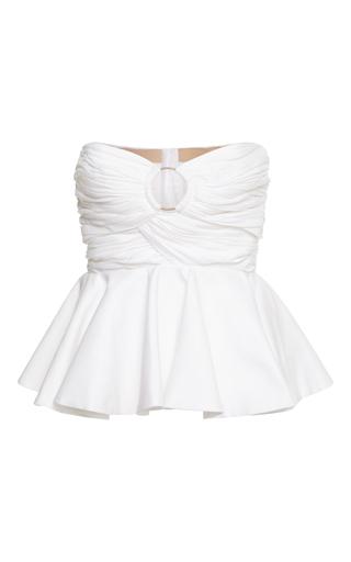 Medium maria lucia hohan white giulietta strapless ring top