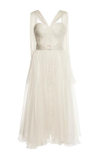 Medium maria lucia hohan white nicoletta chiffon midi dress