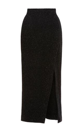 Medium maria lucia hohan black eleri slit skirt