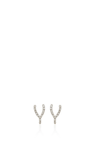 Medium sydney evan silver wishbone studs