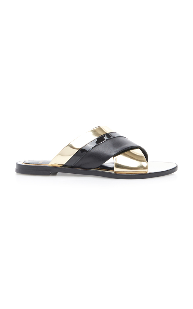 sale sast Lanvin Crossover Leather Sandals store sale online eastbay sale online for nice fWeSG