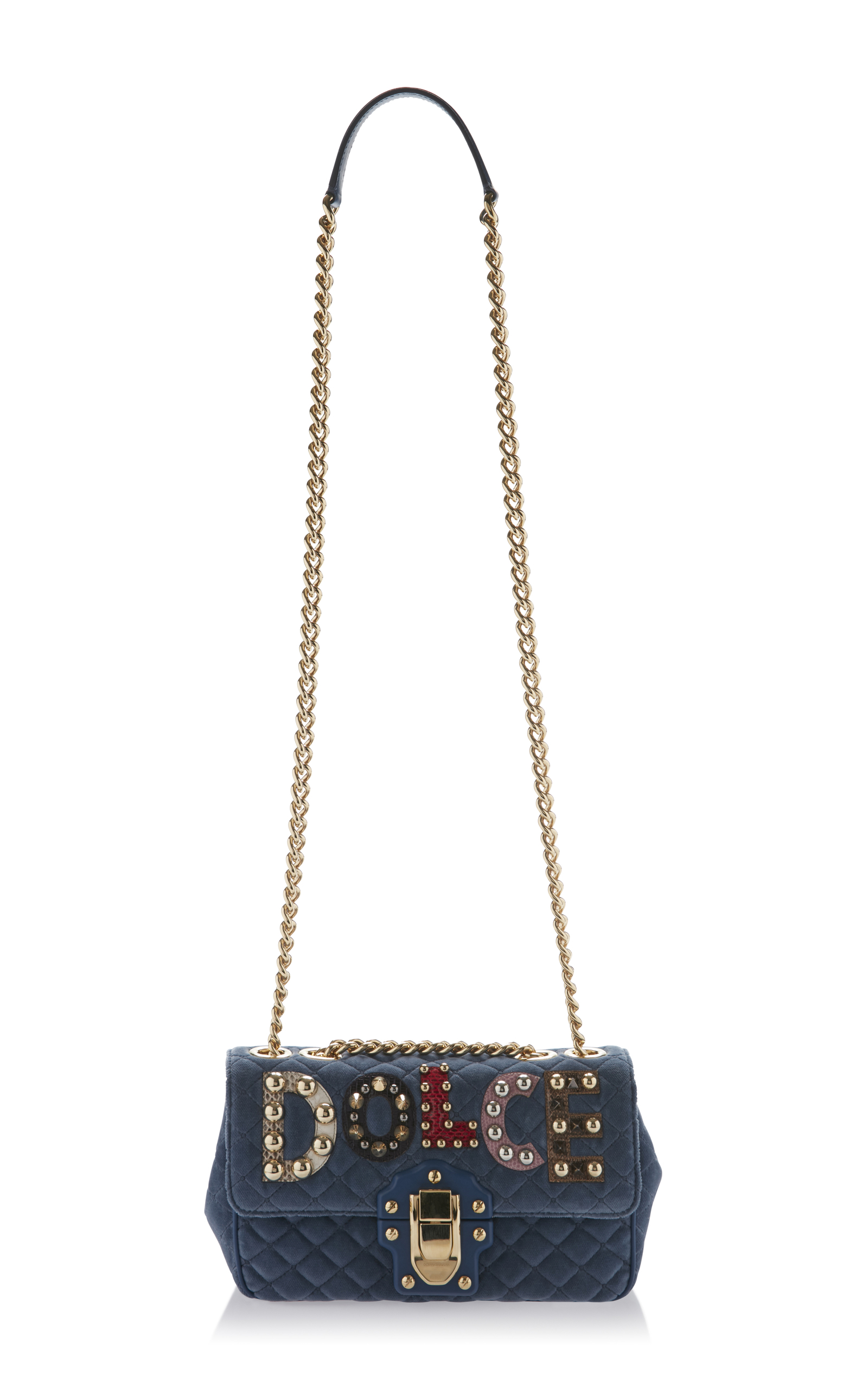 Embellished Quilted Leather Shoulder Bag by Dolce  2b8632fb21703