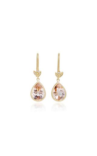 Medium jamie wolf pink 18k gold morganite and diamond earrings