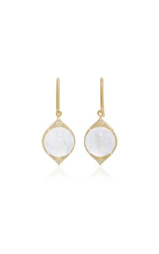Medium jamie wolf white 18k gold rainbow moonstone and diamond earrings 2