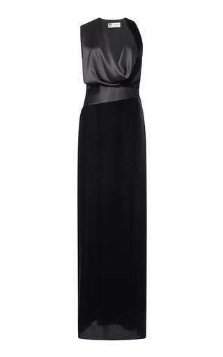 Medium lanvin black sleeveless cowl neck gown