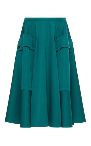 Medium rochas green skater knee length skirt 7