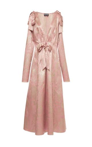 Medium rochas pink metallic bow midi dress 2