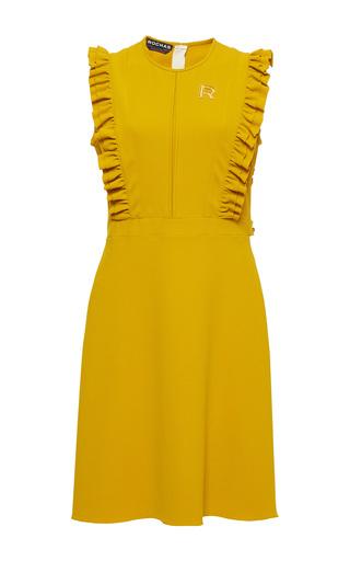 Medium rochas yellow ruffled bib mini dress