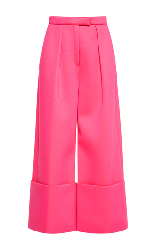 Medium delpozo pink flared wide legged trousers
