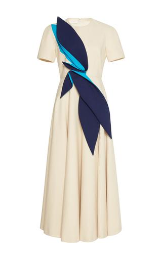 Medium delpozo neutral midi dress with leaves