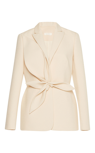 Medium delpozo neutral blazer with leaves