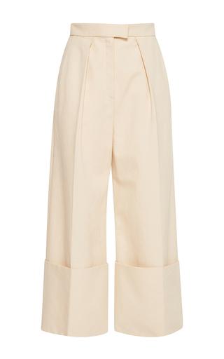 Medium delpozo neutral flared wide legged trousers 2