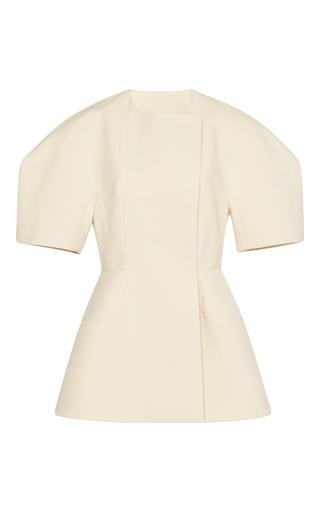 Medium delpozo neutral short sleeve jacket