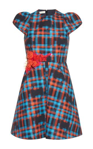 Medium delpozo red short checkered dress