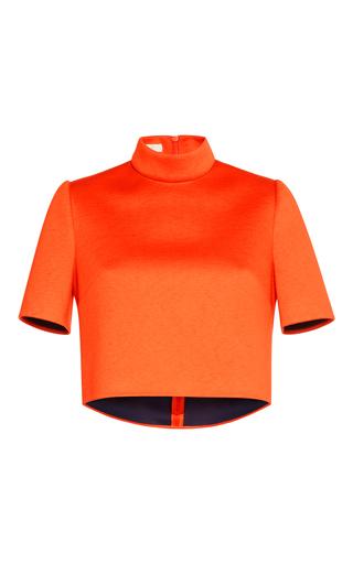 Medium delpozo red short sleeve cropped top