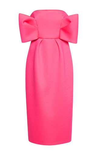 Medium delpozo pink strapless dress with bows