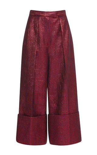 Medium delpozo red pleated wide legged trousers