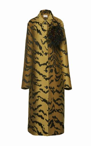 Medium christopher kane animal jacquard coat