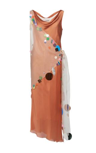 Medium christopher kane orange embellished slip dress