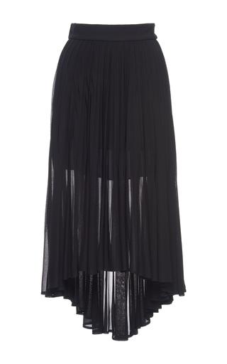 Medium antonio berardi black pleated asymmetric skirt