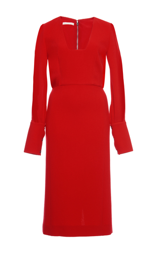 Medium antonio berardi red extended cuff dress