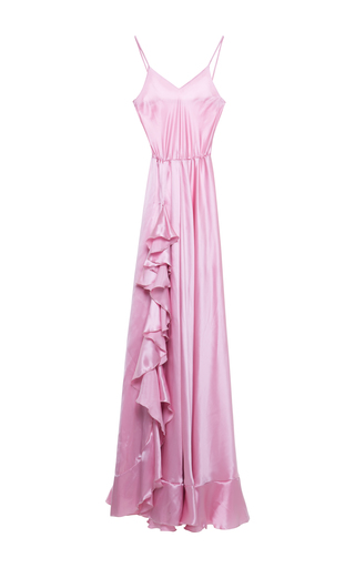 Medium alcoolique pink shyla ruffle maxi dress