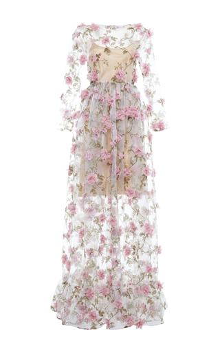 Medium alcoolique floral paola floral applique gown