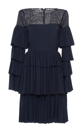 Medium alcoolique black flavia tiered viscose short dress