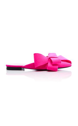 Medium delpozo pink bow mule