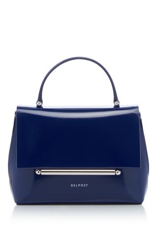 Medium delpozo blue mini bo bag