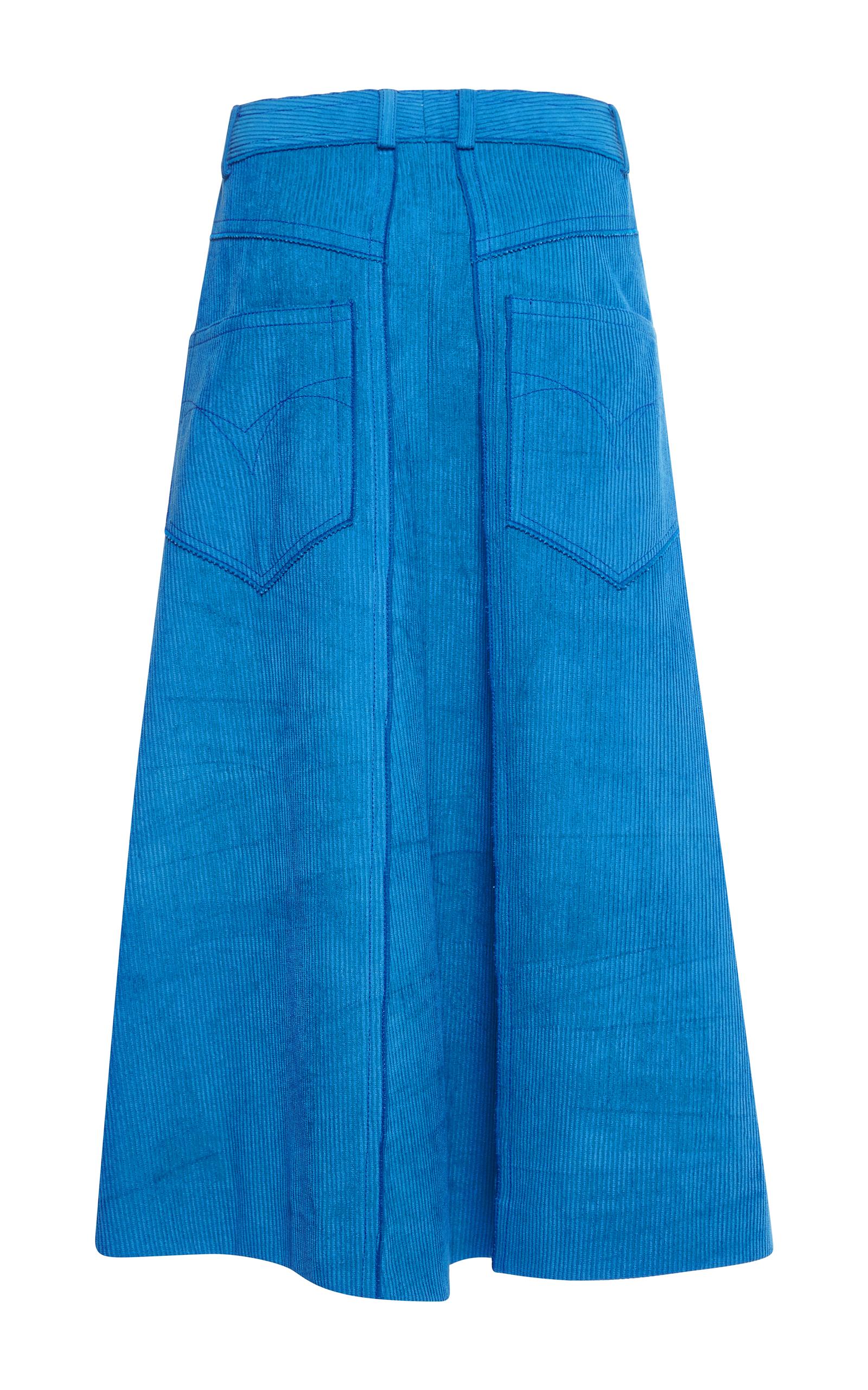 corduroy a line skirt by ricci moda operandi