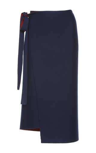 Medium mrz navy wrap skirt