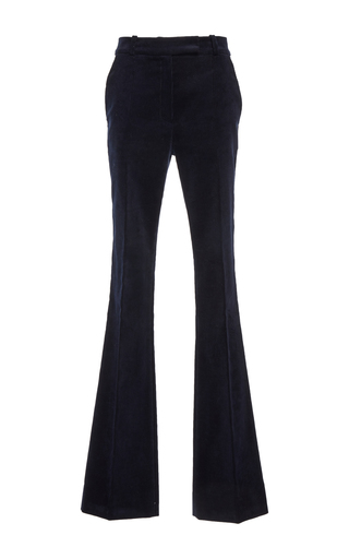 Medium martin grant navy high waisted flared trousers