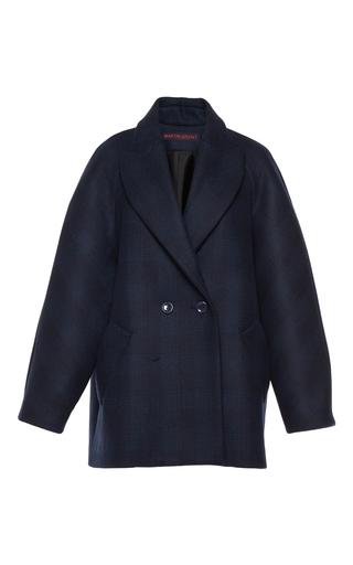 Medium martin grant navy oversized checked men s jacket