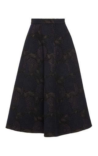 Medium martin grant print a line brocade skirt