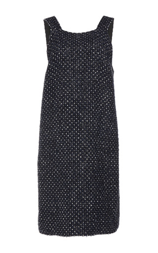 Medium martin grant black tweed pinafore dress