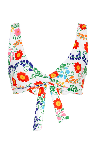 Medium camp cove floral the lena floral print bikini top
