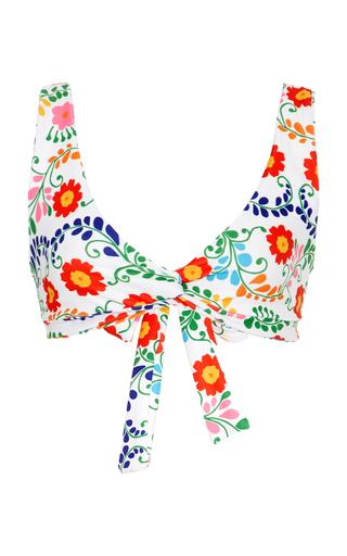 Medium camp cove floral the lena floral print bikini top