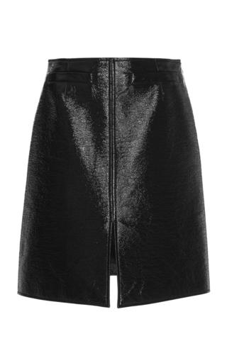 Medium courreges black coated cotton blend pencil skirt