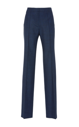 Medium paule ka blue flannel wide legged trouser