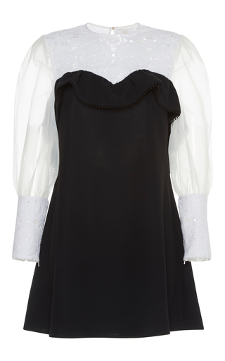 Medium zayan the label black white bea victorian lace dress