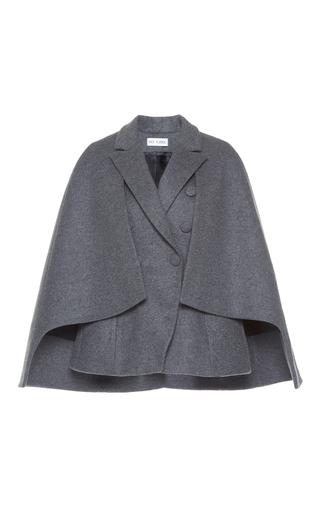 Medium dice kayek grey double breasted wool cape